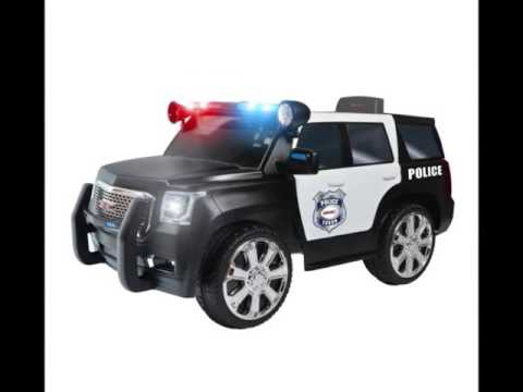 Rollplay 6v Gmc Yukon Police Suv Child S Battery Ride On