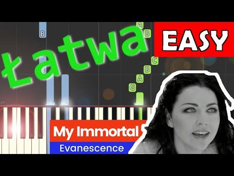 🎹 My Immortal (Evanescence) - Piano Tutorial (łatwa wersja) 🎹