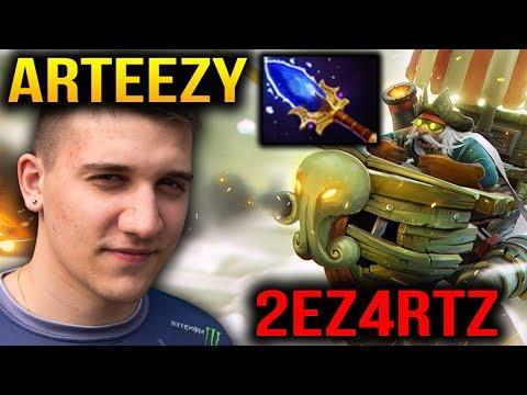 Arteezy Side Gun Gyrocopter Aghanim's Scepter [2 Games] Dota 2