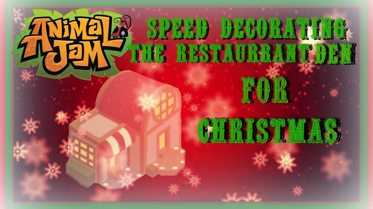Download Animal Jam: Speed Decorating The Restaurant Den For Christmas!