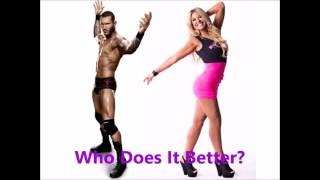 Randy Orton vs Taryn Terrell- Running/Jumping Cutter