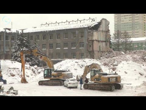В Новосибирске сносят административный корпус легендарного завода НЭВЗ