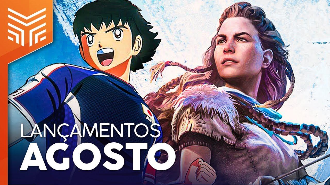 LANÇAMENTOS DE GAMES AGOSTO/2020: SUPER CAMPEÕES, HORIZON NO PC E MAIS (PS4, XBOX ONE, SWITCH E PC)