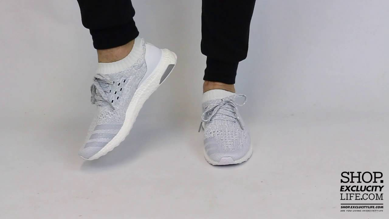 c3d8efa9ae190 Adidas Ultraboost Uncaged White White On feet Video at Exclucity ...