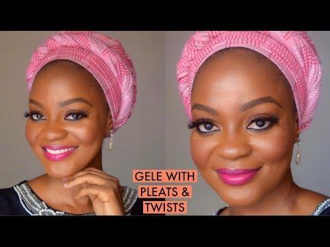 How To Tie Gele With Pleats & Twists | Aso Oke Gele | Omobola Missglam