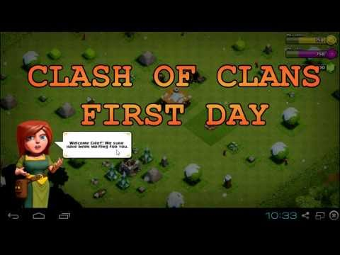 Clash Of Clans First Day Start All Over Level 1