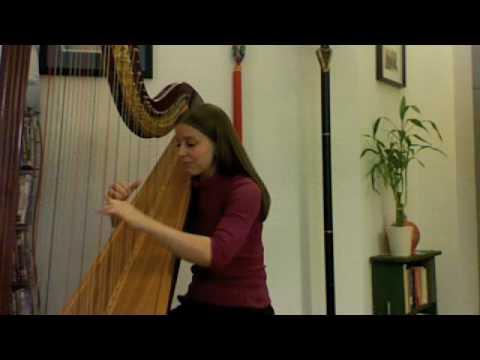 "Keane ""Hamburg Song"" On Harp Elizabeth Gerberding"