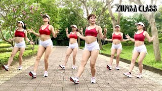 Download lagu 37 Mins Aerobic Workout Reduction Of Belly Fat Quickly l Zumba Class