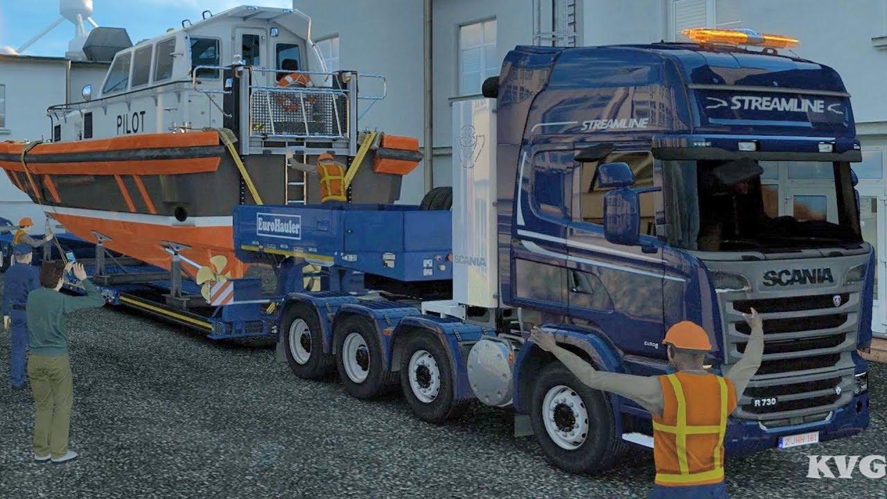 euro truck simulator 2 service boat special transport. Black Bedroom Furniture Sets. Home Design Ideas