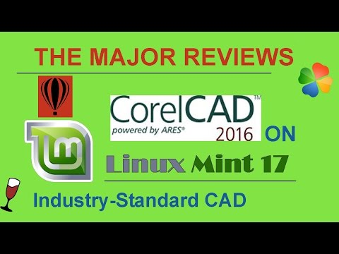CorelCAD 2016 on Linux Mint