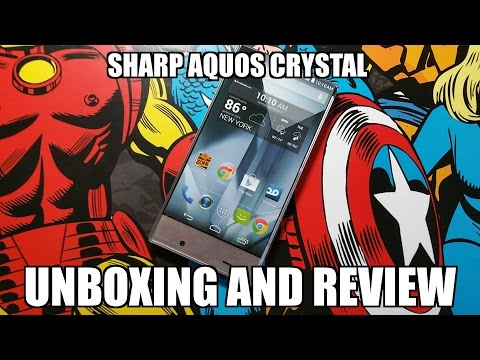 The Borderless Phone: Boost Mobile Sharp Aquos Crystal Unboxing and Review