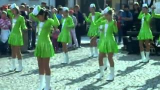 Mažoretky Třešť - změna času na slunečních hodinach 30.3.2011