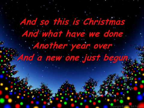 So This Is Christmas Lyrics@