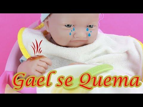El recién nacido Gael se quema y van urgentemente al Hospital de Nenuco