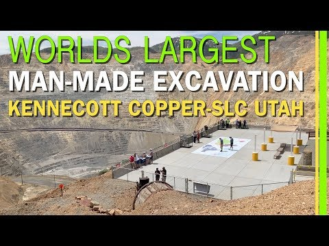 WORLD'S LARGEST MAN-MADE EXCAVATION-KENNECOTT COPPER MINE-BINGHAM CANYON-SALT LAKE CITY-UTAH-EP78