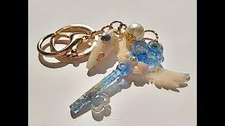 UVレジン 『海の鍵』『月のステッキ』作るよ(*´_⊃`)ノ   海の鍵メイキング  resin