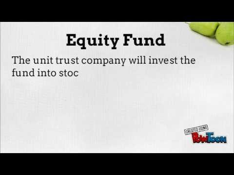 Types of Fund under Unit Trust