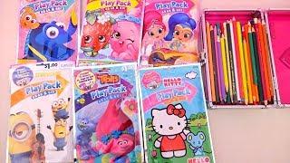 Colorir Trolls, Hello Kitty, Shimmer & Shine, Shopkins, Procurando Dory -Brinquedonovelinhas