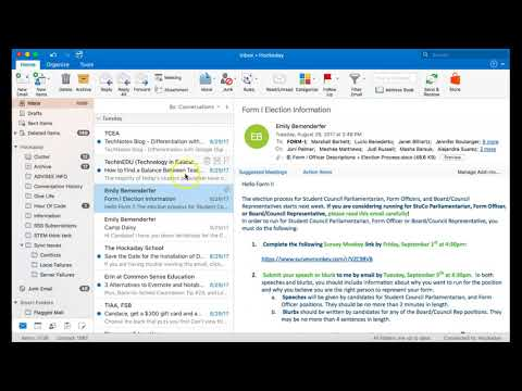 Email Outlook - Reply, Reply All