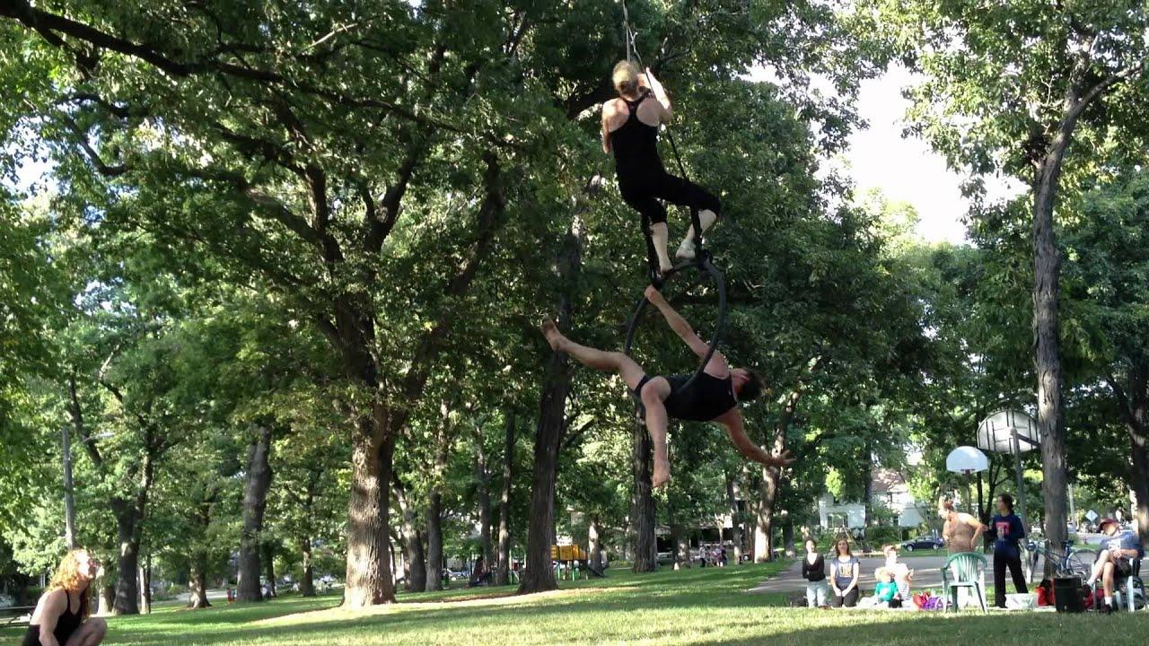 Cycropias Performance At Orton Park >> Cycropia Aerial Dance Orton Park Festival Rehearsal Youtube