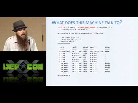 DEF CON 20 Hacking Conference Presentation By egypt   Post Metasploitation Improving Accuracy and Ef