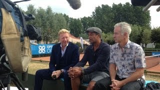 Interview with Boris Becker, Yannick Noah and John McEnroe