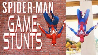 Spider-Man Game Stunts In Real Life (With Advanced Suit)