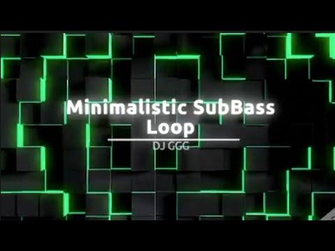 Minimalistic SubBass Loop   DJ GGG   8D Audio