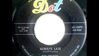 Bob Denton - Always Late (Eddie Cochran Guitar)