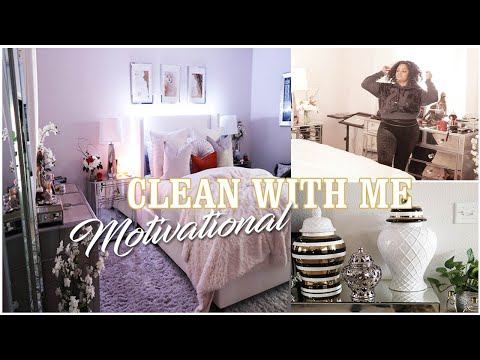 CLEAN WITH ME BEDROOM + BATHROOM || SPEED MOTIVATIONAL CLEANING