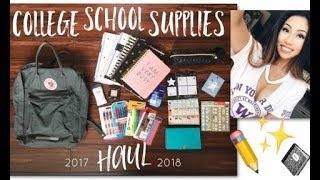 COLLEGE BACK TO SCHOOL SUPPLIES HAUL!!! ESSENTIALS from Target, Daiso, & MORE 2017 // @ohdangdanii