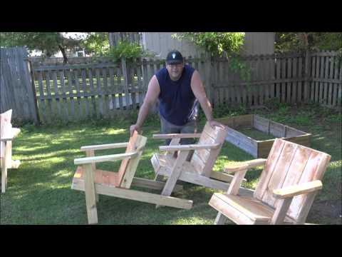 Simple Adironack Chair plans directors cut