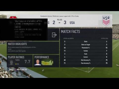 USA vs ALGERIA (iFVPA World Cup 2017)