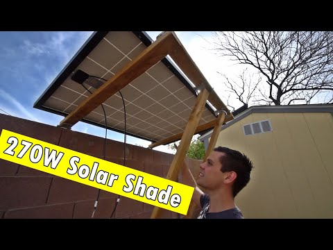 DIY 270W Solar Shade Prototype #1 (Not NEC Or Safety Certified)