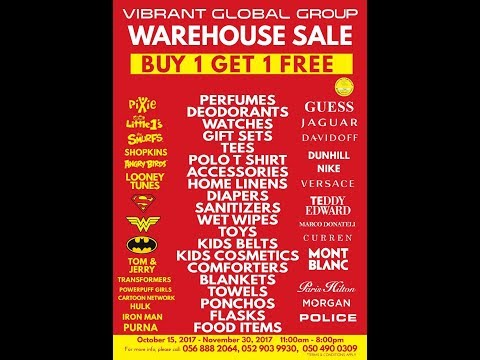 Vibrant Warehouse Sale - With Free Home Delivery