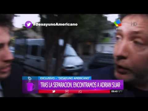 Adrián Suar eludió con humor las preguntas de su separación de Siciliani