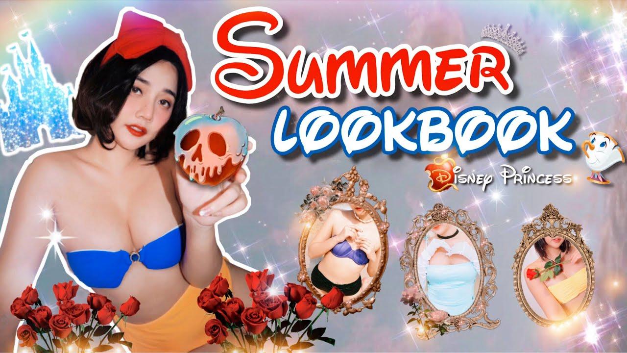 SUMMER LOOKBOOK•Disney Princess Swimsuits👸🏻ไอเดียแต่งชุดว่ายน้ำสไตล์เจ้าหญิง✨Ep1 | Piyavadee.Ap