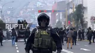 Peru: Police fires tear gas and water cannon on striking teachers in Lima