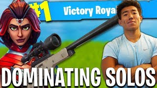 BACK TO BACK SOLO WINS! KING OF TILTED TOWERS!? Fortnite Battle Royale