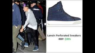 justin bieber shoe footwear collection 2013 updated video