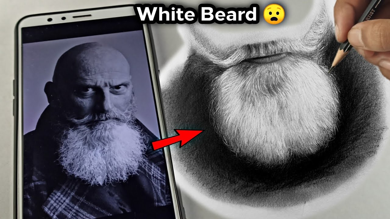 How to draw White Beard | Step by Step Tutorial | Indenting Techniques