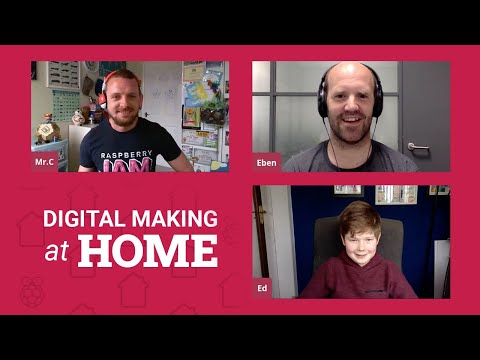Chat with Eben Upton and making art with code – LIVE – Digital Making at Home