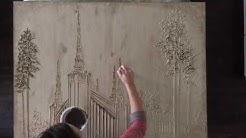 Wandering Lava Artist Paints the Portland, OR LDS Temple- time lapse