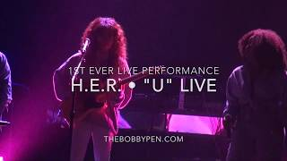 """H.E.R. Performs """"U"""" Live for First Time Ever"""
