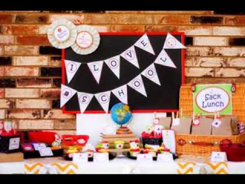 Diy back to school party decorating ideas youtube for Back to school party decoration ideas
