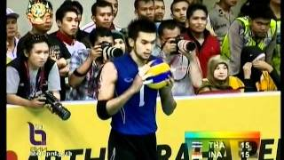 Thailand vs Indonesia - set 1 - Men Volleyball - 26th SEA GAMES