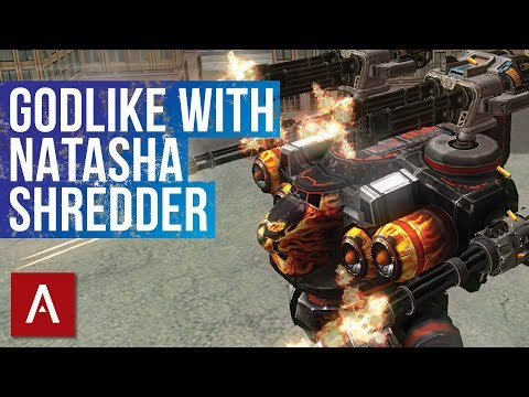 War Robots Best Setup: Natasha Avenger Punisher - The SHREDDER | GODLIKE Gameplay