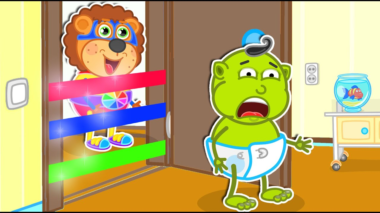 Lion Family   Best Series about Sweets and Trampoline Games   Cartoon for Kids