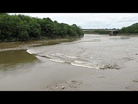 River Ribble tidal bore at Preston 15 June 2018