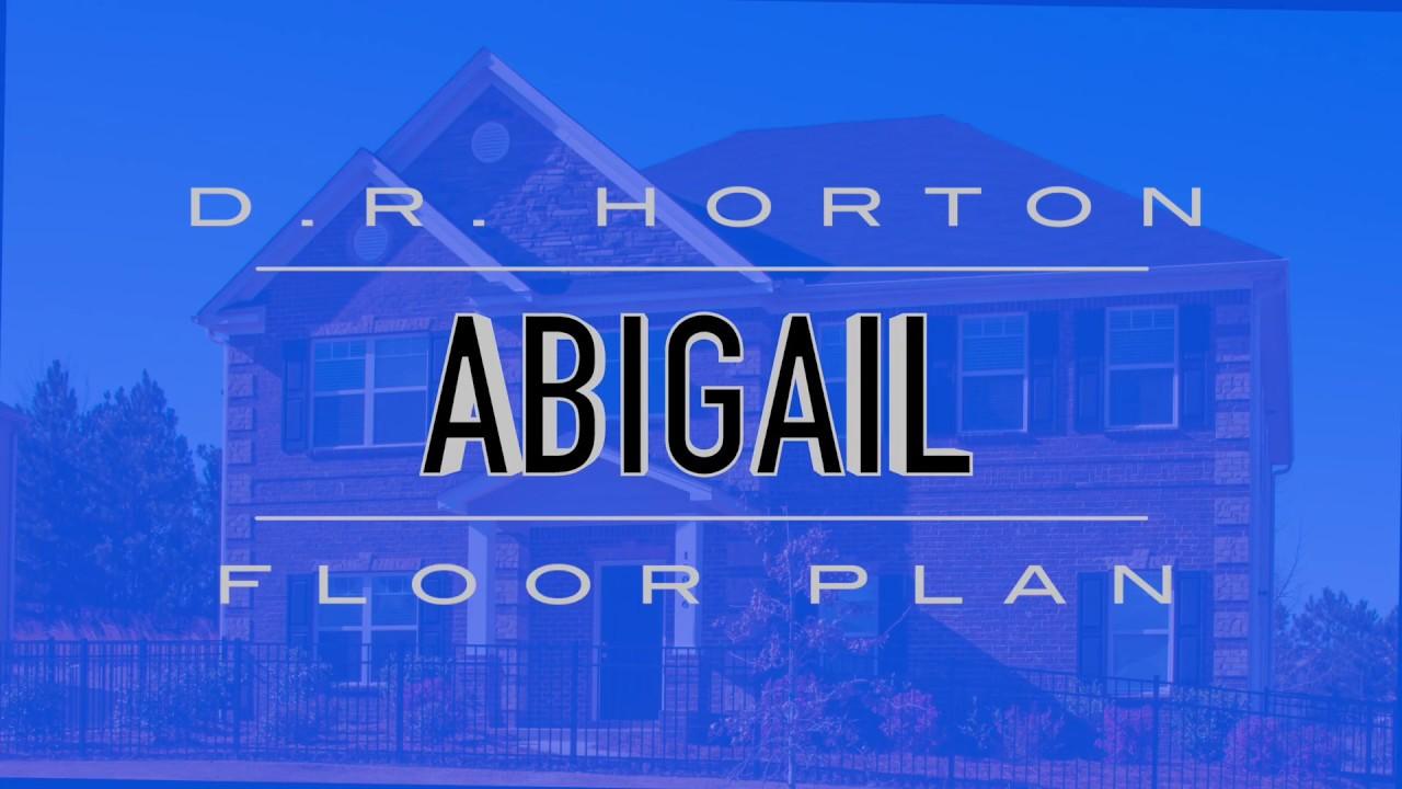 Abigail Floor Plan By D R Horton Youtube